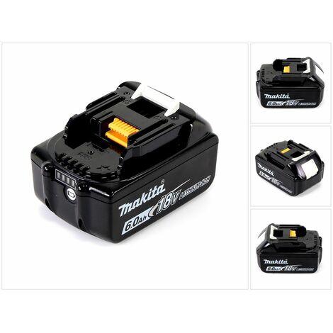 Makita BL 1860 B Batería de litio 18 V - 6,0 Ah con LED para lector de carga ( 197422-4 )