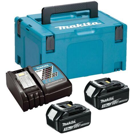 Makita BL1830 18v 2 x 3.0ah Lithium Batteries DC18RC Fast Charger + Makpac Case