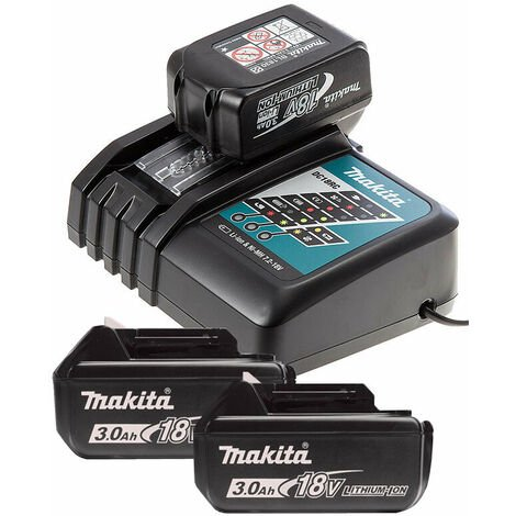 Makita BL1830 18v 3.0Ah LXT 3 Lithium-Ion Batteries & DC18RC Fast Charger Bundle