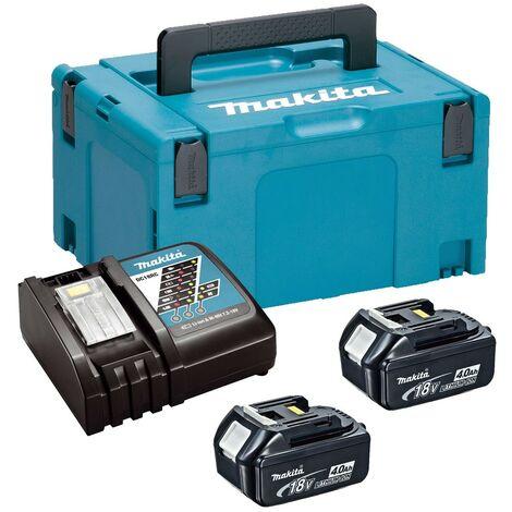 Makita BL1840 18v 2 x 4.0ah Lithium Batteries DC18RC Fast Charger + Makpac Case