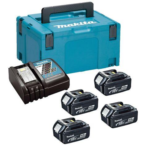 Makita BL1840 18v 4 x 4.0ah Lithium Batteries DC18RC Fast Charger + Makpac Case