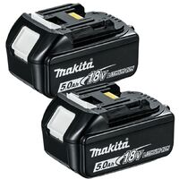 Makita BL1850 18V LXT 5.0Ah Li-Ion Battery Twin Pack