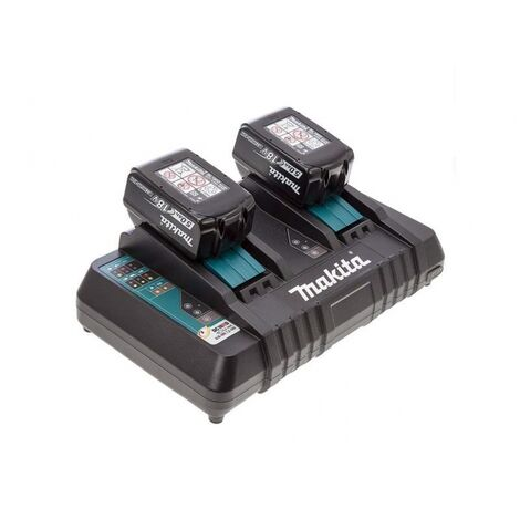 Makita BL1850 Twin pack with a DC18RD/2 Dual Port Charger