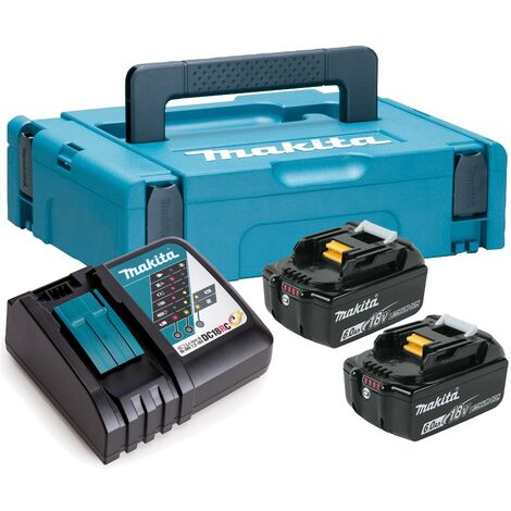 Makita BL1860 18v 2 x 6.0ah Lithium Batteries DC18RC Fast Charger +Makpac 1 Case