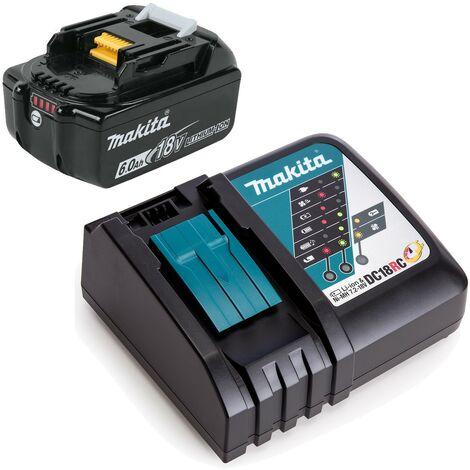 "main image of ""Makita BL1860 18v 6.0ah Lithium Battery BL1860B + DC18RC Fast Charger"""