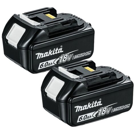 "main image of ""Makita BL1860 18V LXT 6.0Ah Li-Ion Batteries (Twin Pack)"""
