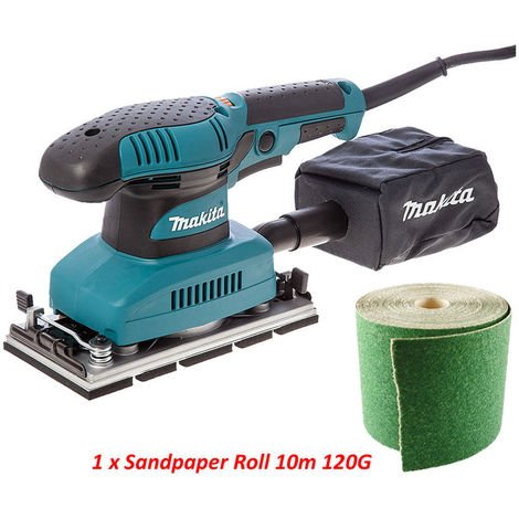 Makita BO3711 1/3 Sheet Orbital Sander 110V With Extra 10m SandPaper Roll:110V