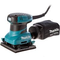 Makita BO4555 Hook and Loop Palm Sander 240V with Dustbag and Sanding Sheets