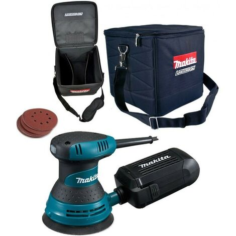 "Makita BO5031 125mm 5"" 240v Random Orbital Sander Speed Control + Cube Bag"
