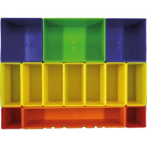 Makita Boxeneinsatz mit farbigen Boxen P-83652, Einlage, Einlage für MAKPAC Koffer