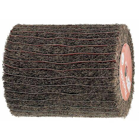 MAKITA Brosse texture abrasive et lamelles papier abrasif pour réf. 9741