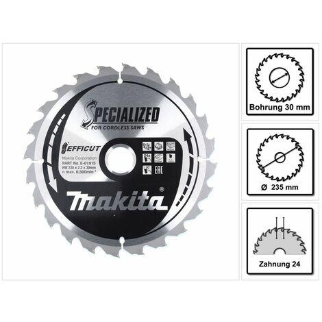 Makita CCM23524G Lame de scie circulaire SPECIALIZED EFFICUT 235 x 30 x 1,5 mm - 24 dents, pour bois ( E-01915 )