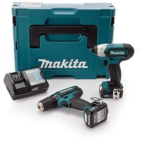Makita CLX201AJ Perceuse visseuse avec visseuse à chocs/2 batteries 10,8 V