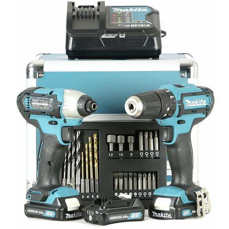 Makita CLX202SAX2 Perceuse Viseuse + Visseuse à choc + 3 Batteries ex LCT303X1