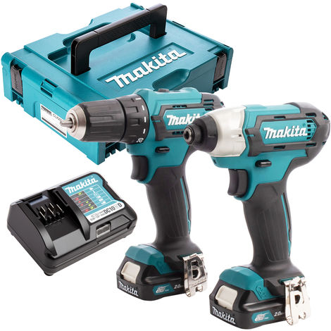 Makita CLX224AJ 12V Max CXT 2 Piece Cordless Kit with 2 x 2.0Ah Batteries & Charger in Case