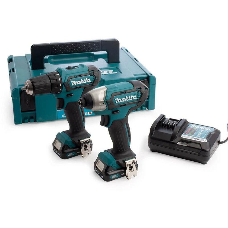 Makita CLX224AJ 12V Max Impact & Drill Driver Combo Kit with 2x 2.0Ah Batteries
