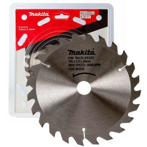 Makita D-03333 Circular Saw Blade 165 X 20 24 Teeth - Suits DSS611 DSS610 DHS680
