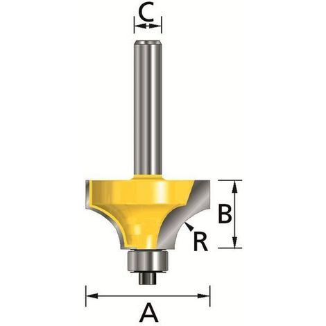 MAKITA D-09444 - Fresa para madera moldurado con rodamiento pinza (c) 6 mm (a) 21 mm (b) 10 mm (r) 6 mm