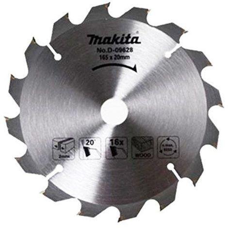 Makita d-09628Lame de scie circulaire diamètre: 165mm x 16dents pour scie à piles, BSS610Laser a-89626