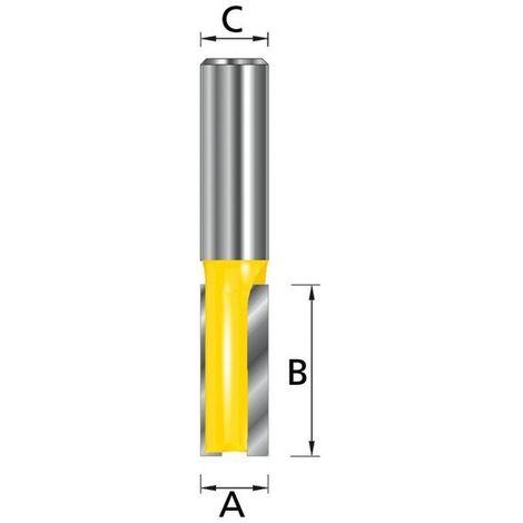 MAKITA D-10051 - Fresa para madera recta dos filos pinza (c) 8 mm (a) 6 mm (b) 19 mm