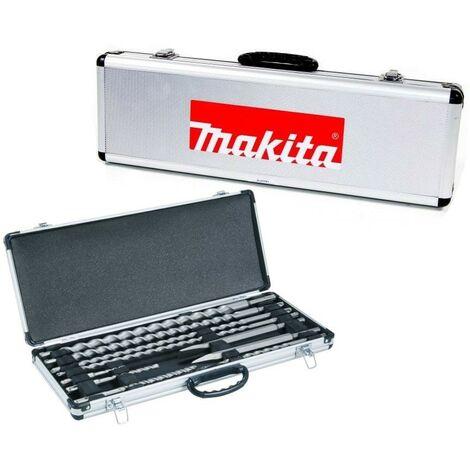 "main image of ""Makita D-21191 10 Piece SDS Plus Drill Bit + Cold Point Chisel Set + Metal Case"""