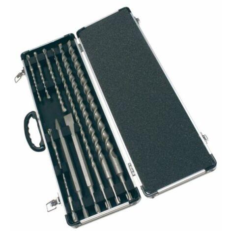 Makita D-21191 SDS+ Drill Bit & Chisel Set 10 Piece in Aluminium Carrying Case