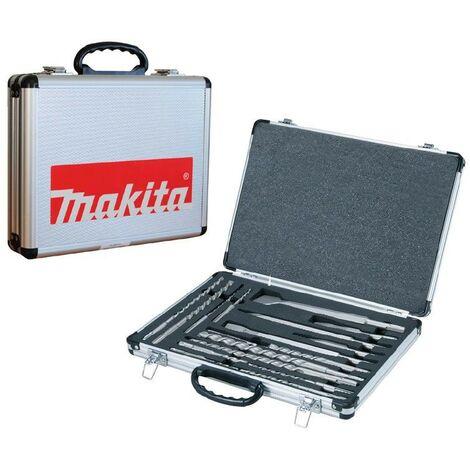 Makita D-21200 17 Piece SDS Plus Drill + Bullet Cold Flat Chisel Set Metal Case