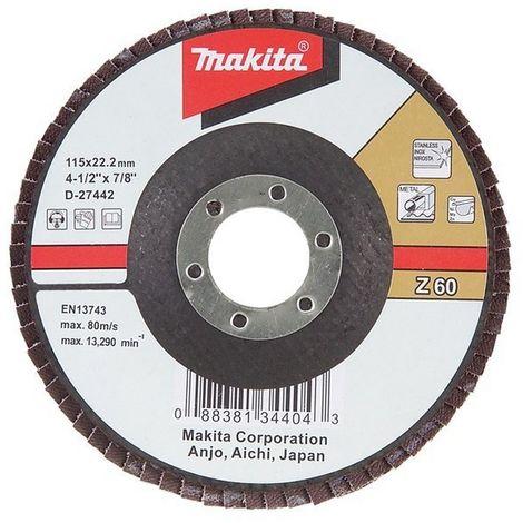 MAKITA D-27551 - Disco de laminas 180 curvo de zirconio-aluminio grano 80 con cuerpo de fibra de vidrio