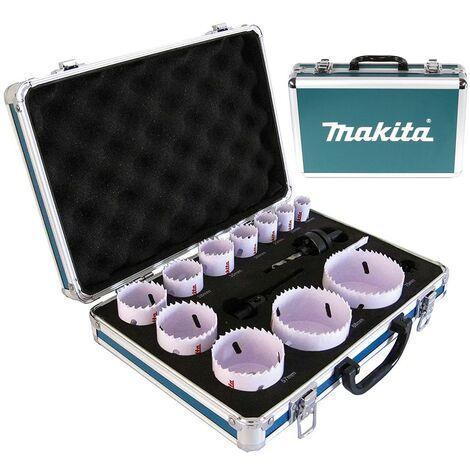 """main image of """"Makita D-47307 16 Piece Plumbers Holesaw Set 16mm - 76mm 2 Arbors + Metal Case"""""""