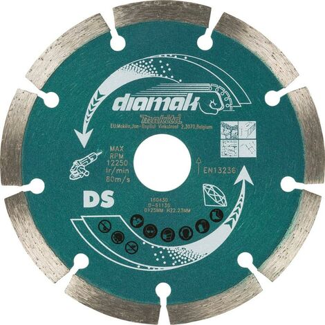 Makita D-61139 SEG Diamond Cutting Disc 125mm Blade Concrete Stone Cutter