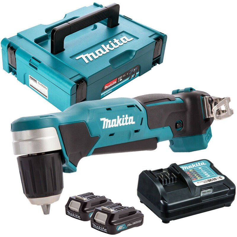 Makita DA333DZ 12V CXT Angle Drill with 2 x 2.0Ah Batteries & Charger in Case