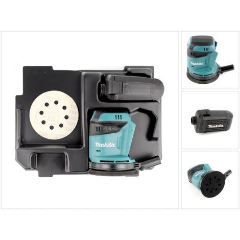 Makita DBO 180 ZE Ponceuse excentrique sans fil 18V 125mm + Insert pour Makpac