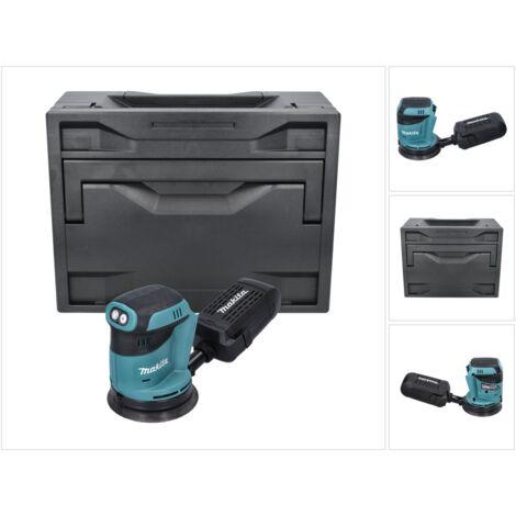 Makita DBO 180 ZX Ponceuse excentrique sans fil 18V Solo + Makbox - sans batterie, sans chargeur