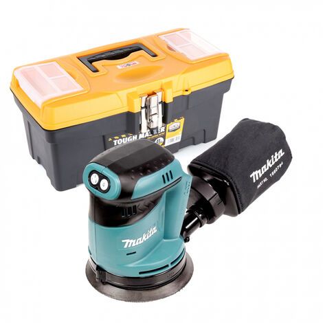 Makita DBO180 18V Random Orbital Sander With 16 inch/41cm Tool Storage Box