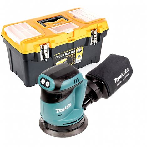 Makita DBO180 18V Random Orbital Sander With 19 inch/49cm Tool Storage Box