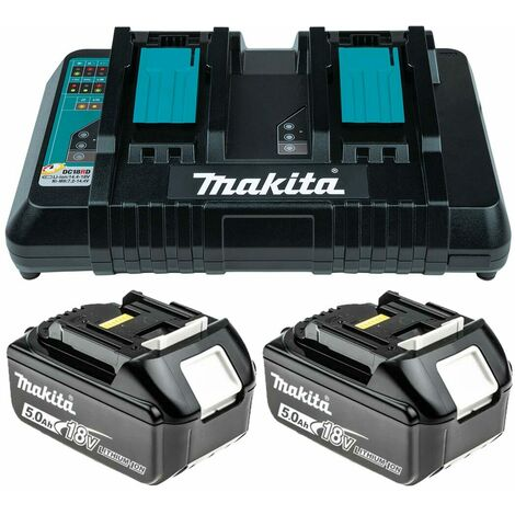"""main image of """"Makita DC18RD 18V LXT Twin Port Charger with 2x 5.0Ah Batteries"""""""