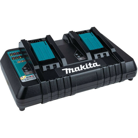 Makita DC18RD Li-Ion Twin Rapid Optimum Charger with USB Port