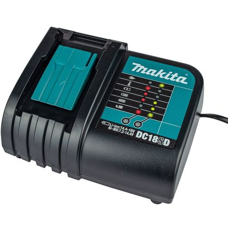 Makita DC18SD Charger 7.2v - 18V Lithium Ion