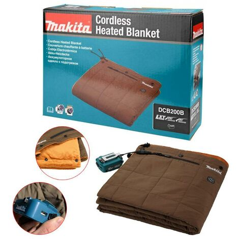 Makita DCB200B 18v Cordless Battery Heated Blanket Water Resistant + USB Charger