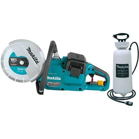 "Makita DCE090ZX1 18v / 36v 9"" Cordless Brushless Disc Cutter Saw Bare + Water"