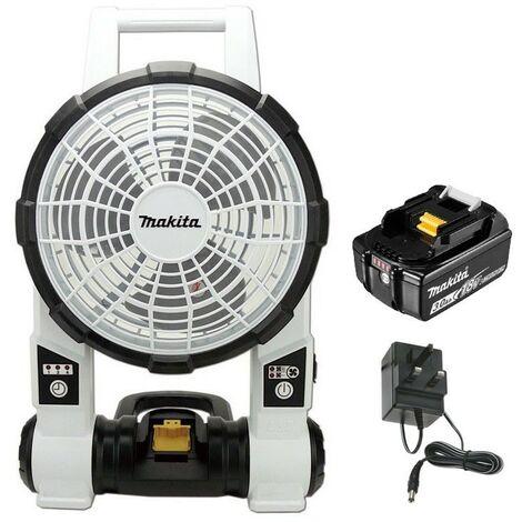 "main image of ""Makita DCF201ZW 18v 240v LXT Cordless Portable 2 Speed Fan White + 3AH Battery"""
