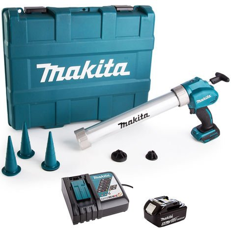 """main image of """"Makita DCG180ZBK 18V LXT Caulking Gun with 1 x 5.0Ah Battery & Charger in Carry Case:18V"""""""