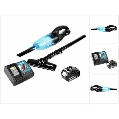 Makita DCL 180 B 18V Li-Ion Aspirateur compact sans fil Noir + 1x Batterie BL 1830 3,0 Ah + Chargeur rapide DC 18 RC