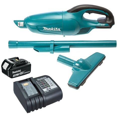 Makita DCL180 DCL180RF 18 Volt LXT Lithium Ion Vacuum Cleaner 1 Battery Charger