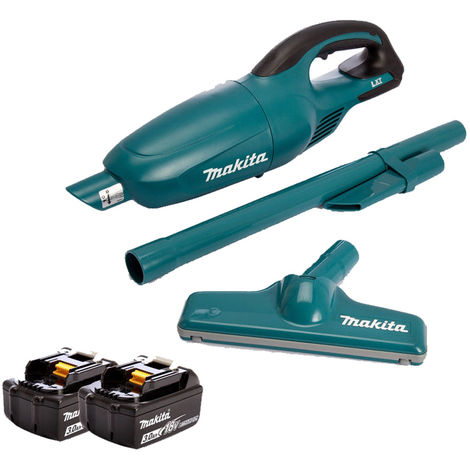 Makita DCL180Z 18V Li-ion Cordless Vacuum Cleaner With 2 x 3Ah BL1830 Batteries:18V