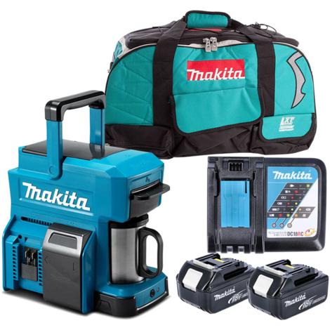 Makita DCM501 10.8V/18V CXT/LXT Coffee Maker With 2 x 3.0Ah Batteries, Charger & Bag