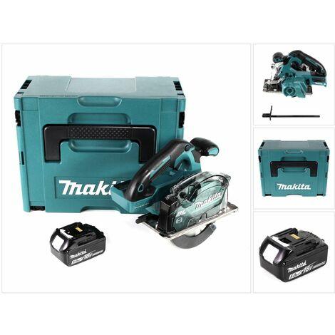 Makita DCS 553 T1J Scie circulaire à main 18V 150 mm Brushless + 1x Batterie 5,0Ah + Coffret Makpac - sans chargeur