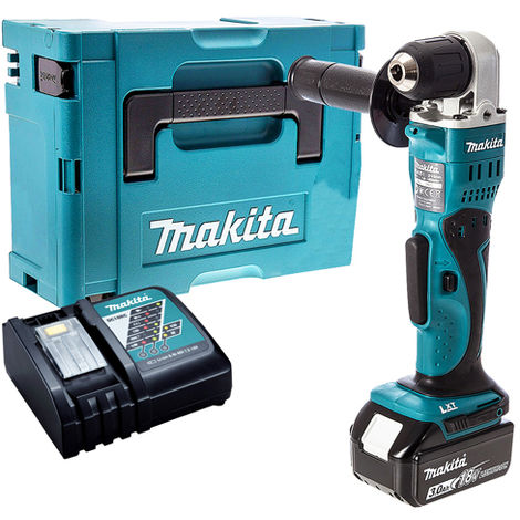 Makita DDA351Z 18V Angle Drill with 1 x 3.0Ah Battery & Charger in Case:18V