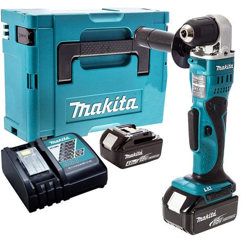 Makita DDA351Z 18V Angle Drill with 2 x 4.0Ah Battery & Charger in Case:18V