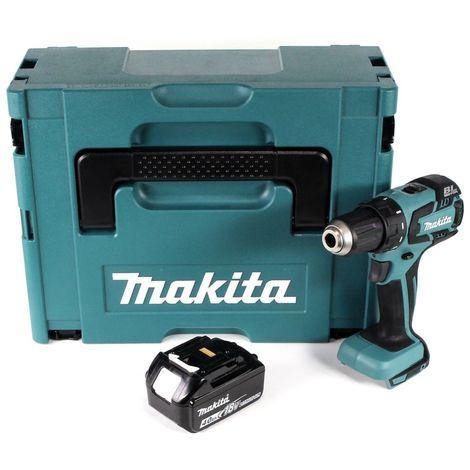 Makita DDF 459 M1J 18 V Li-Ion Perceuse visseuse sans fil + Coffret Makpac + 1 x Batterie 4,0 Ah - sans Chargeur